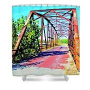 Old Ozark Trail Bridge Shower Curtain