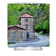 Old Paint Mill Spring Time Shower Curtain