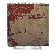 Old Painted Brick Shower Curtain