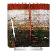 Old Pals Out To Pasture Shower Curtain