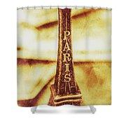 Old Paris Decor Shower Curtain