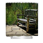 Old Park Bench Shower Curtain