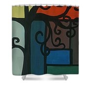 Old Pattern Shower Curtain