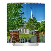 Old Peace Chapel Defiance Mo 7r2_dsc6739_04252017 Shower Curtain