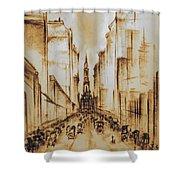 Old Philadelphia City Hall 1920 Shower Curtain