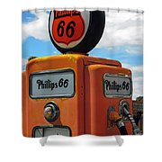 Old Phillips 66 Gas Pump Shower Curtain