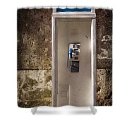Old Phonebooth Shower Curtain