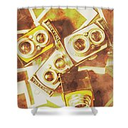 Old Photo Cameras Shower Curtain
