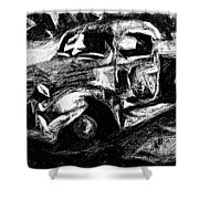 Old Pickup In Winter Shower Curtain
