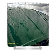 Old Pickup Truck Hood Shower Curtain