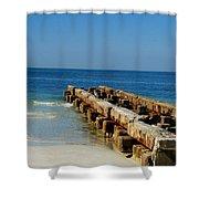 Old Pier Shower Curtain