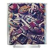 Old Plane And Other Toys Shower Curtain