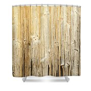 Old Planked Wood Used As Background Shower Curtain