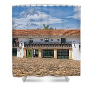Old Plaza Shower Curtain