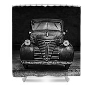 Old Plymouth Truck Square Shower Curtain