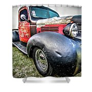 Old Plymouth Truck Shower Curtain
