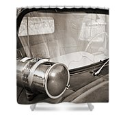 Old Police Car Siren Shower Curtain