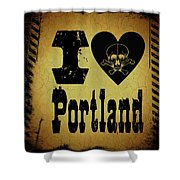 Old Portland Shower Curtain