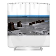 Old Posts And Shifting Sand Shower Curtain