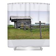 Old Prairie Home Shower Curtain