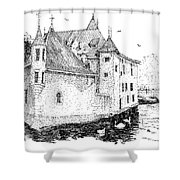 Old Prison Of Annecy France Shower Curtain