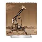Old Pumpjack  Artesia New Mexico Shower Curtain