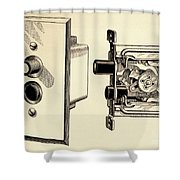 Old Push Button Light Switch Shower Curtain