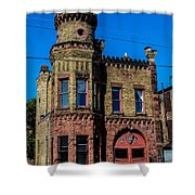 Old Racine Fire Station Shower Curtain