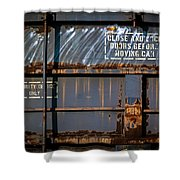 Old Railroad Boxcar  Shower Curtain