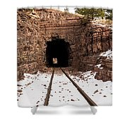 Old Railroad Tunnel Shower Curtain
