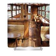 Old Railway Wagon Interior Vintage Shower Curtain
