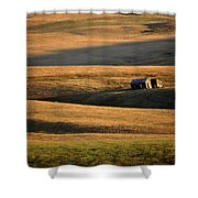 Old Ranch Buildings In Alberta Shower Curtain