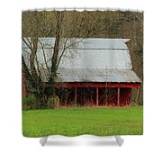Old Red Barn In Jefferson County Shower Curtain