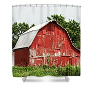 Old Red Barn Johnson County Ia Shower Curtain