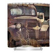 Old Red Dodge Truck Shower Curtain
