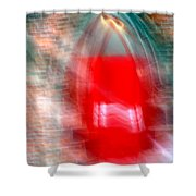 Old Red Door Abstract Shower Curtain
