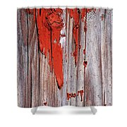 Old Red Paint Shower Curtain