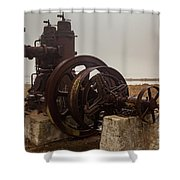 Old Rice Well Pump Shower Curtain