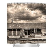 Old Rio Grande Train Stop Shower Curtain
