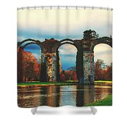 Old Roman Aqueduct Shower Curtain