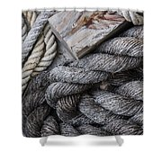 Old Ropes On Dock Shower Curtain
