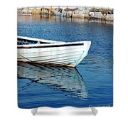 Old Row Boat Shower Curtain