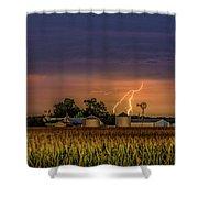 Old Rte 66 Lightning 8 48 16 P Shower Curtain