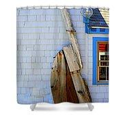 Old Rudder Shower Curtain