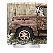 Old Rust Truck Shower Curtain