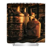 Old Rustic Cans Shower Curtain