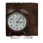 Old Rustick Clock Shower Curtain