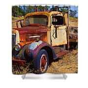 Old Rusting Flatbed Truck Shower Curtain