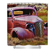 Old Rusty Car Bodie Ghost Town Shower Curtain by Garry Gay
