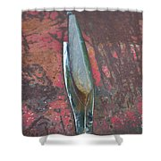 Old Rusty Hood At 9000 Feet Rocky Mountains Co Shower Curtain